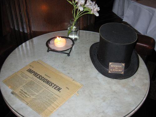Et bord er alltid reservert for Dr. Henrik Ibsen