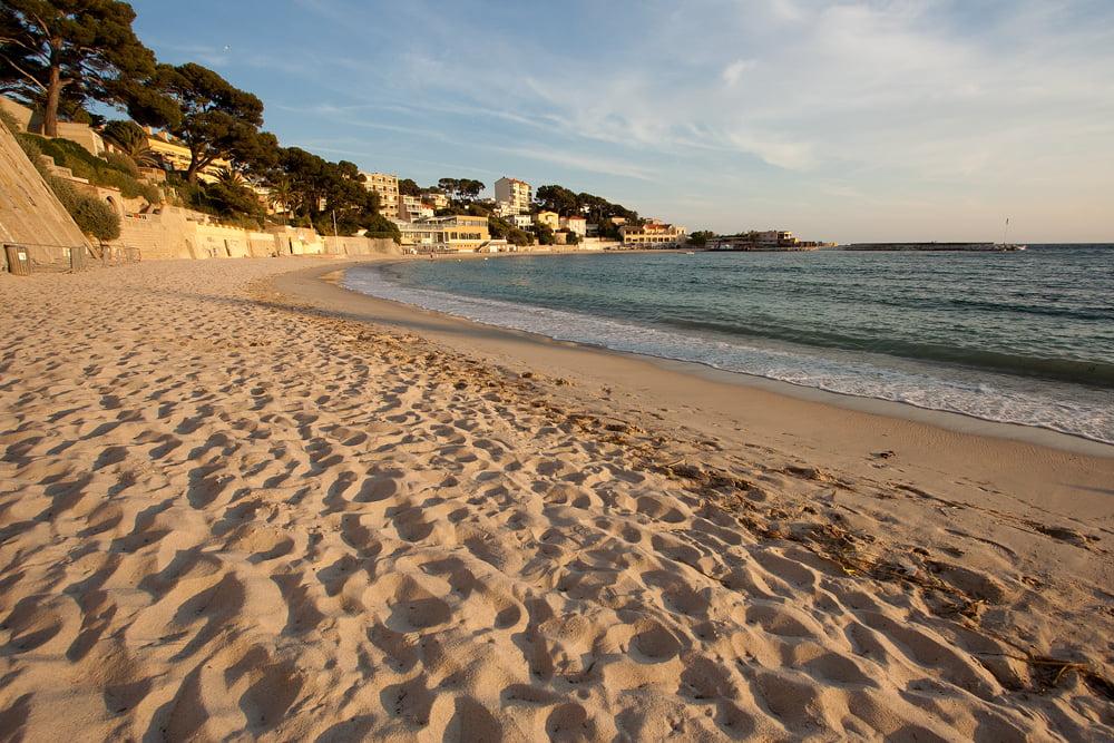Stranden i Bandol Frankrike